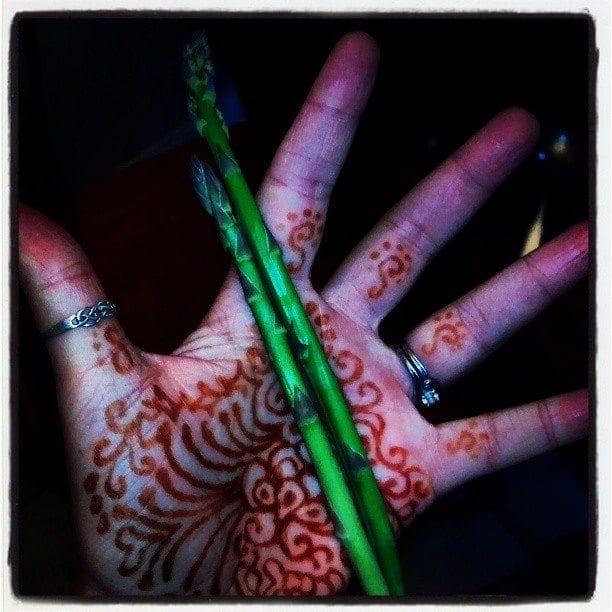 henna and asparagus