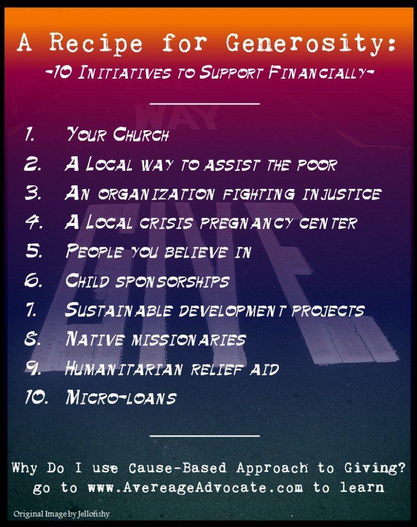 A Recipe for generosity - Elisa Johnston - www.AverageAdvocate.com