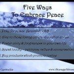 Five Peaceful Actions on the International Day of Peace