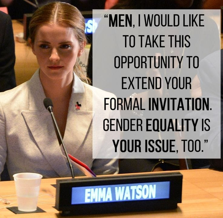 Men--how can you be an advocate for treating women as equals, with value?