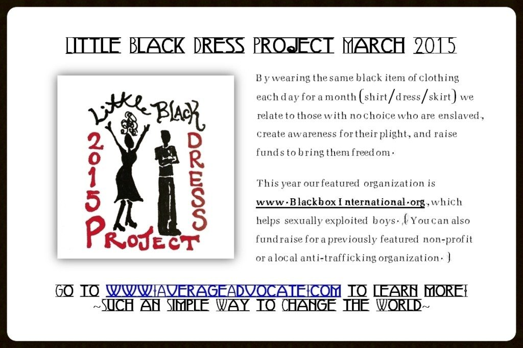 2015 March LittleBlackDressProject. Flyer With Border