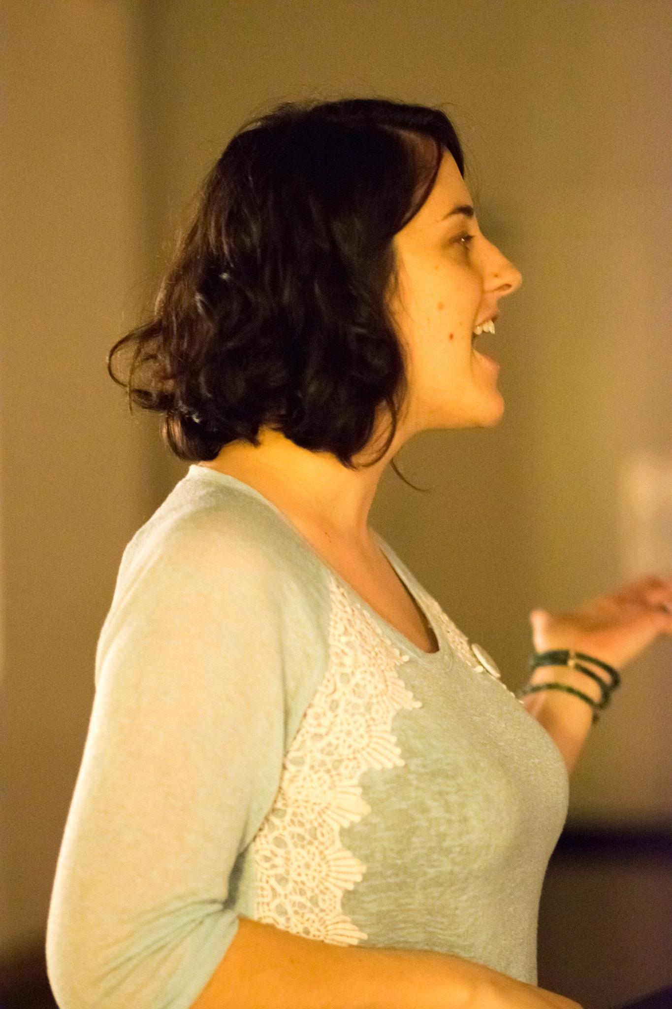 Elisa Johnston Speaking At A Human Trafficking Event