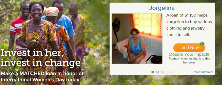 Kiva Women's day header