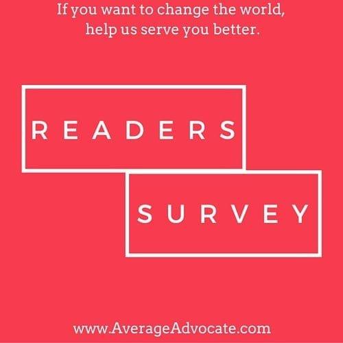 Readers Survey Average Advocate