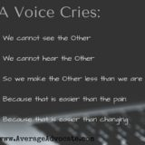 A Voice Cries (Poem): How World Changers Can React to Current Events in the USA