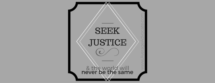 Typography of Seek Justice