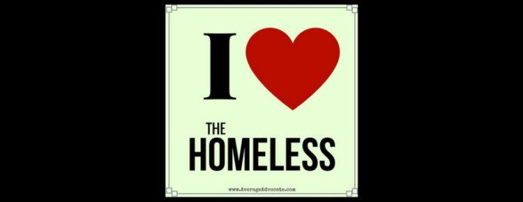 I love the homeless image
