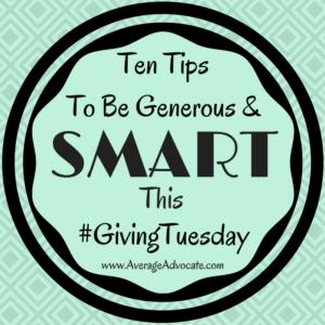 www.AverageAdvocate.com Smart generosity