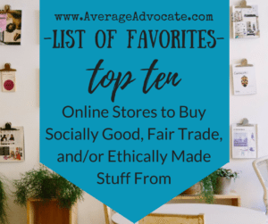 Social good ethically sourced clothing and gift stores