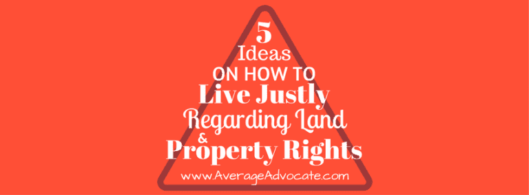 Five Ideas for property rights