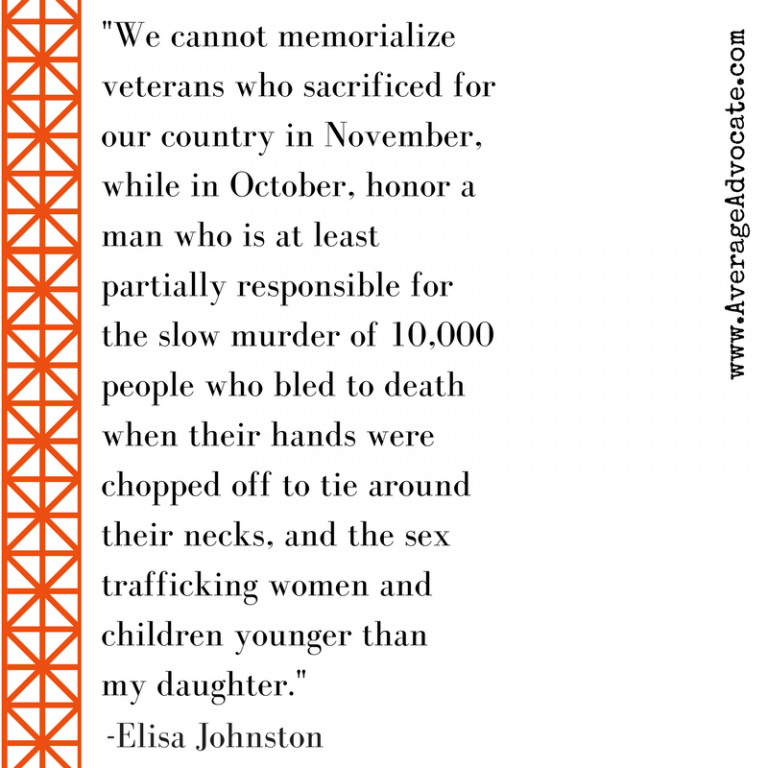 Elisa Johnston Quote on Columbus Day