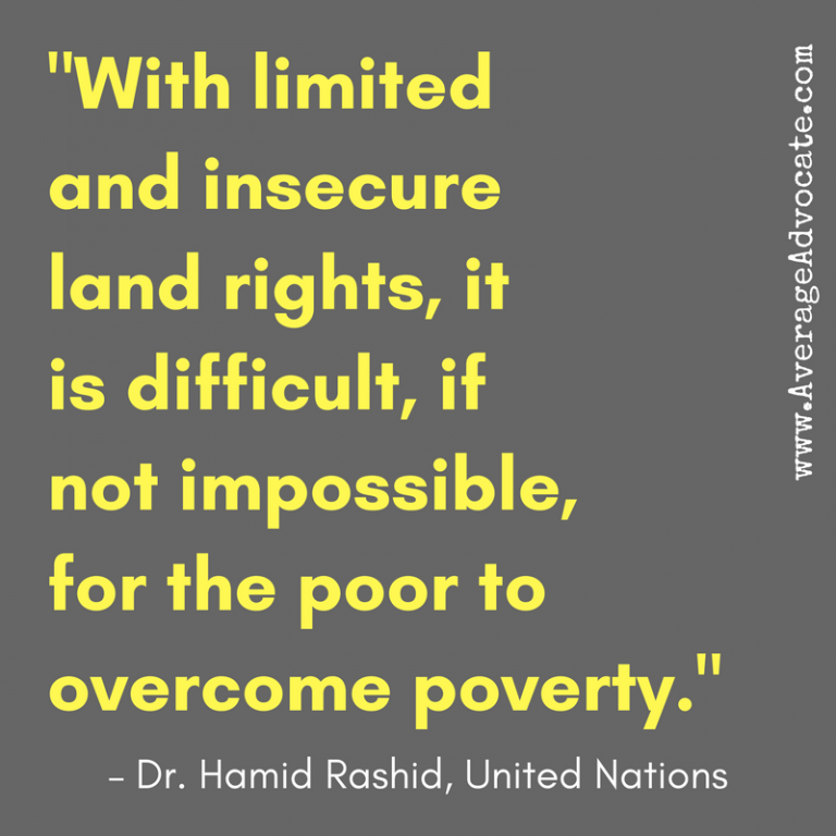 Dr. Hamid Rash quote UN poverty rights