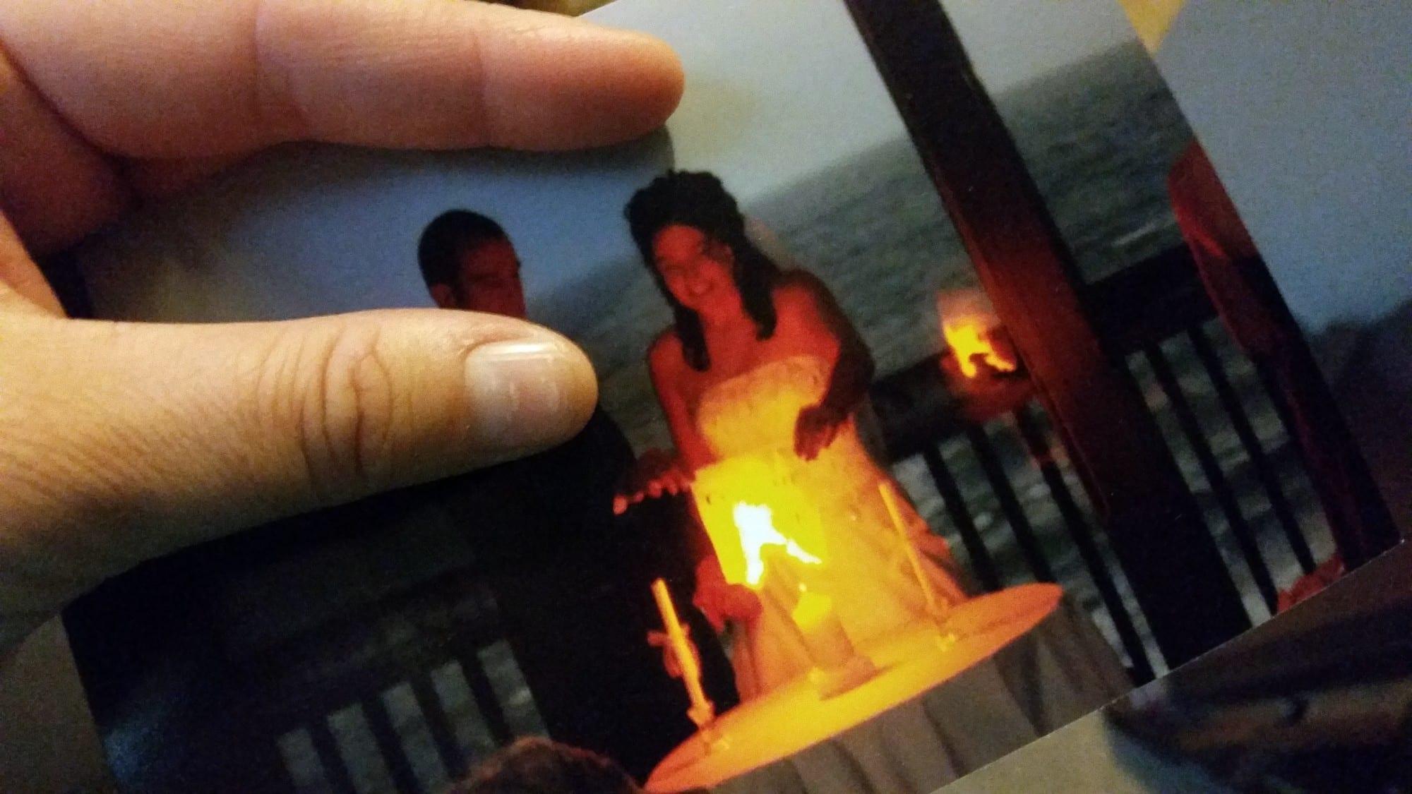 Flash Paper burning certificate of divorce