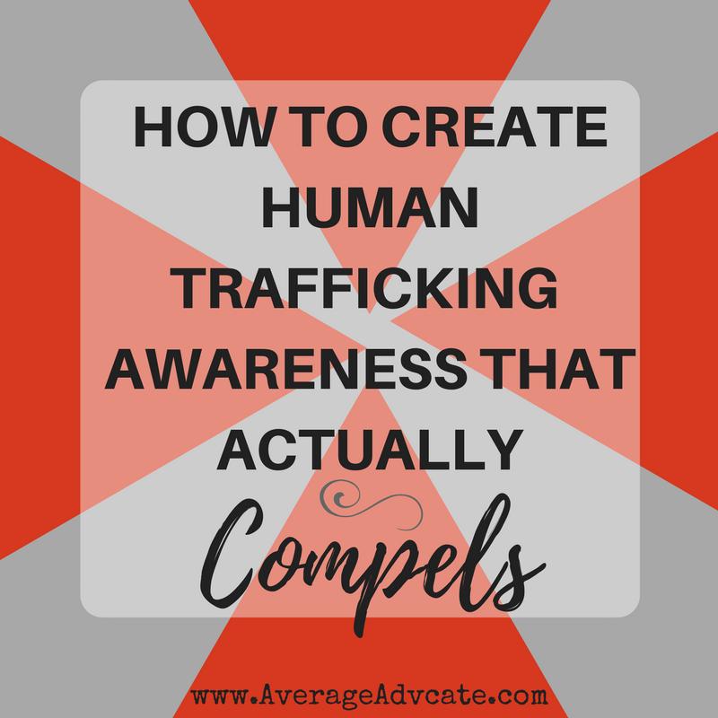 Awareness for human trafficking