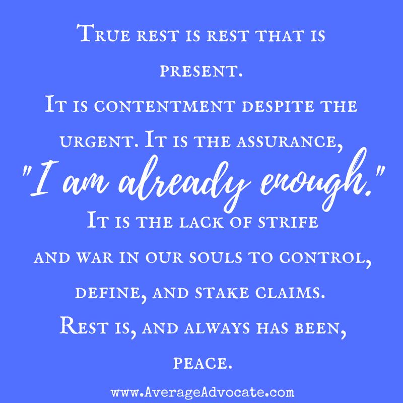 True rest is peace